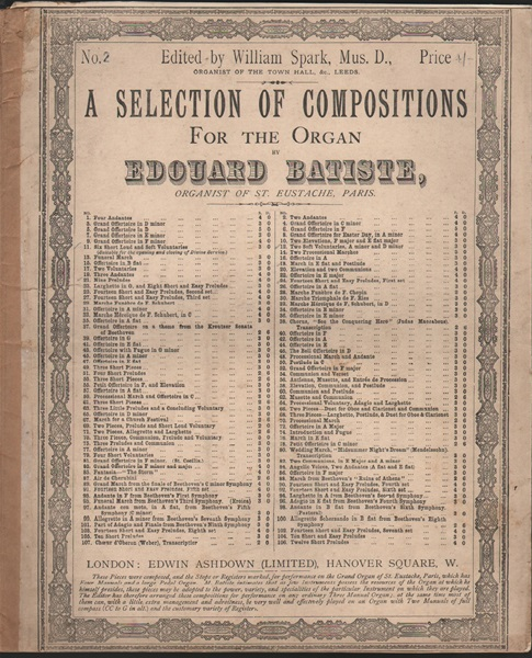 A Selection of Compositions for the Organ