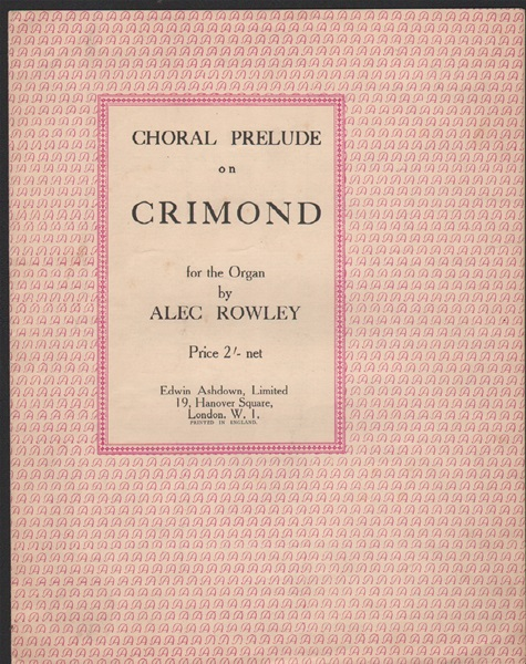 Choral Prelude on 'Crimond' - Organ