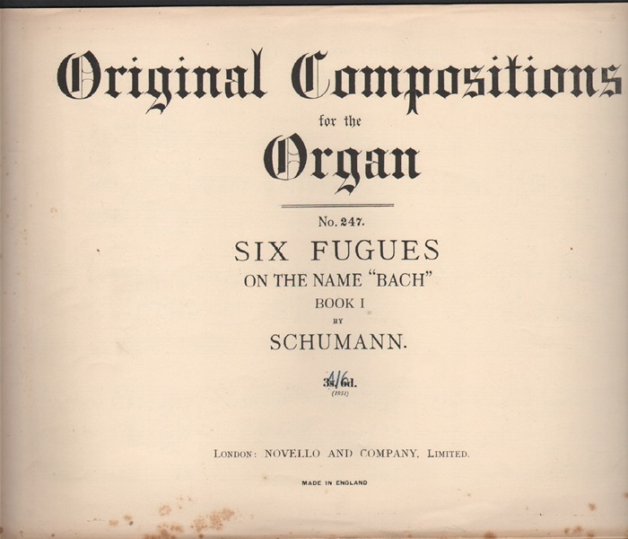 Six Fugues on the name of