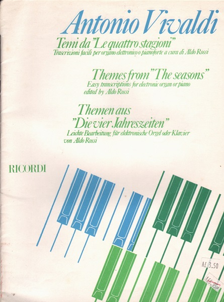 Themes from 'The Seasons' - electronic organ or pf.
