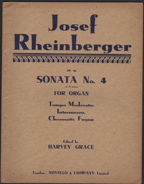 Sonata No.4 for Organ - Op.98 in a minor
