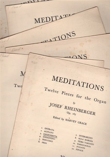Meditations - 12 pieces for the Organ (6 here)