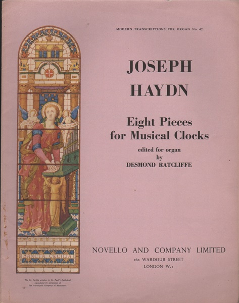 Eight Pieces for Musical Clocks - Organ