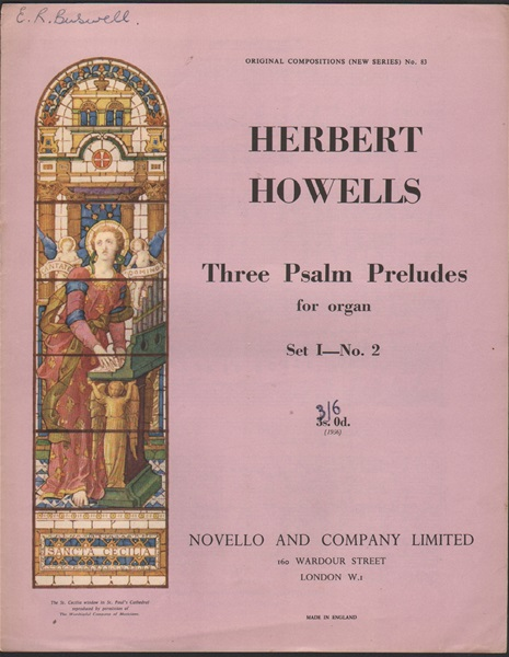 Three Psalm Preludes for Organ