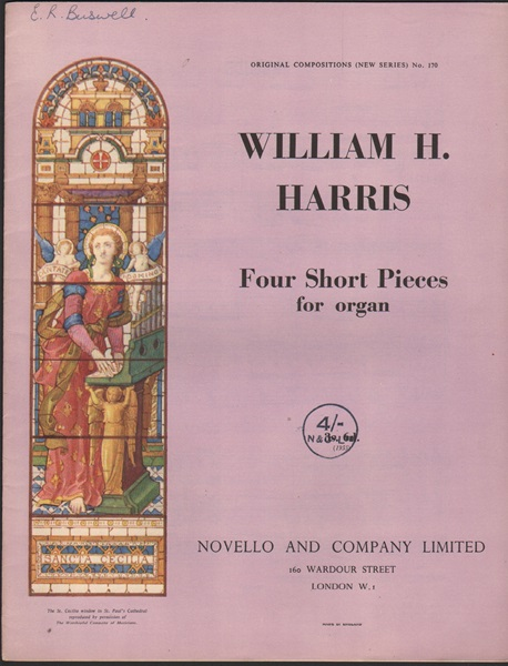 Four Short Pieces for Organ