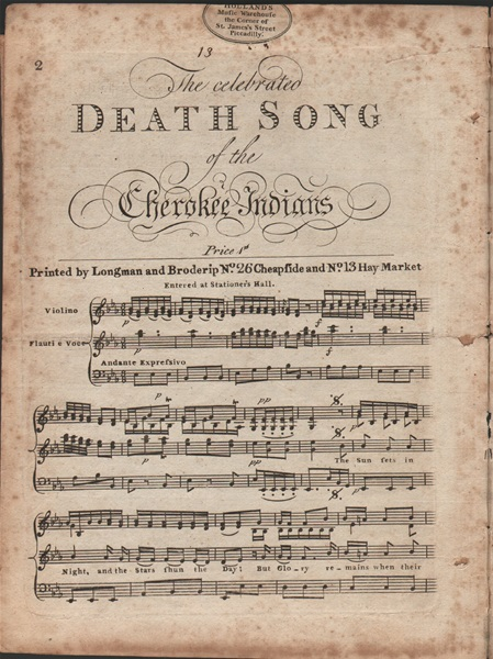 Death Song of the Cherokee Indians