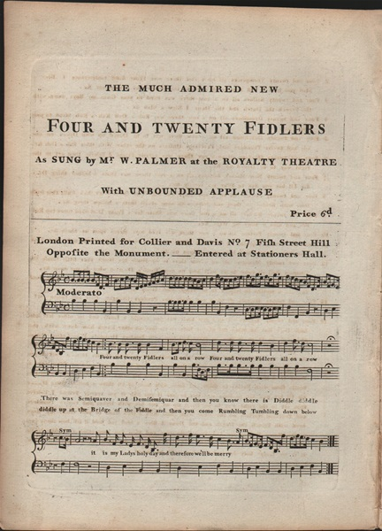 Four and Twenty Fiddlers - song