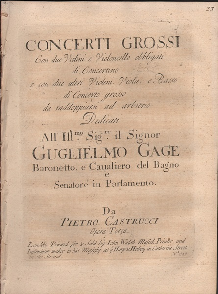 Concerti Grossi - Op.3 - Basso pt. only