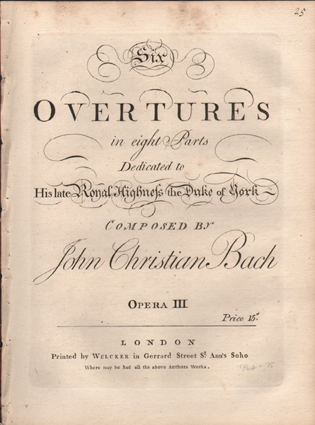 Six Overtures - Op.3 - Figured Basso part only