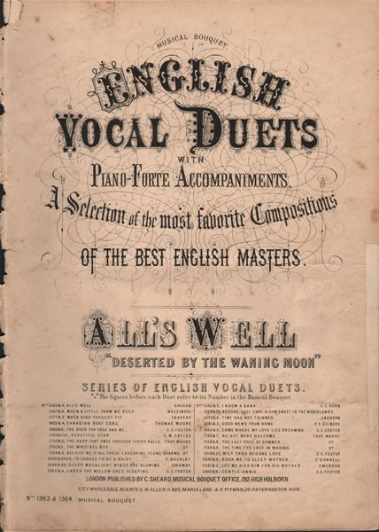 All's Well - vocal duet