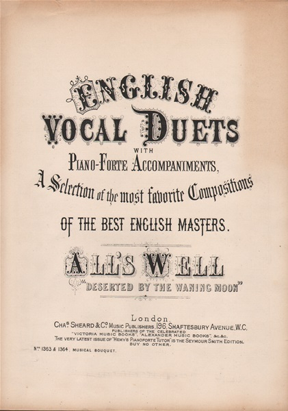 All's Well - vcl.duet