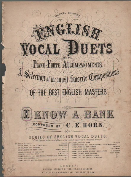 I Know a Bank - vocal duet