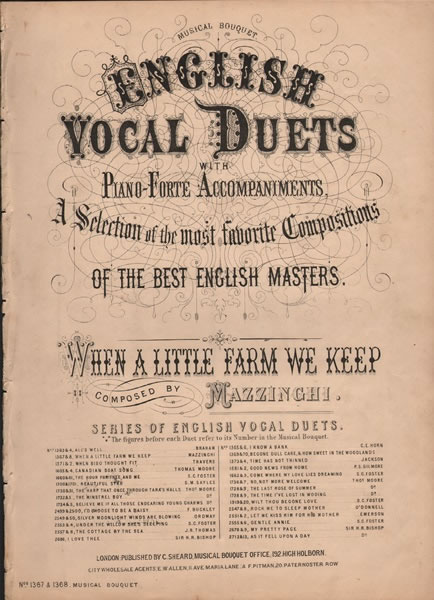 When a Little Farm We Keep - vocal duet