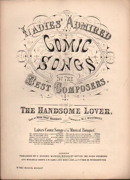 The Handsome Lover - ladies comic song