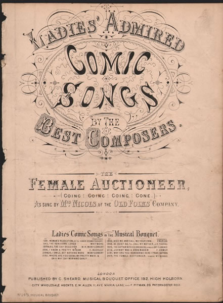 The Female Auctioneer - (Going! Going! Going! Gone - ladies comic song