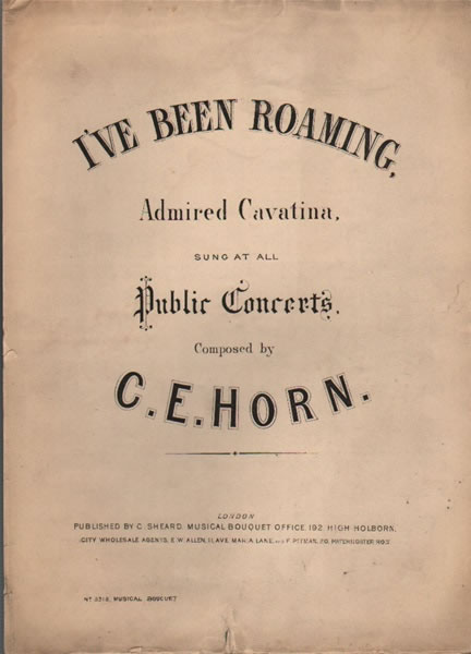 I've Been Roaming - Cavatina