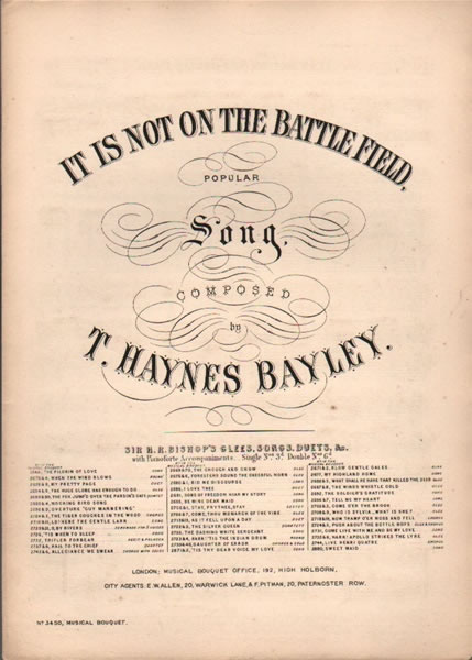 It is not on the Battlefield - Song
