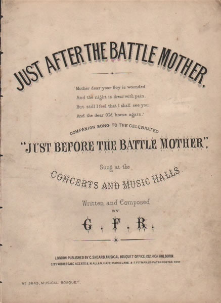 Just after the Battle Mother - song & chorus