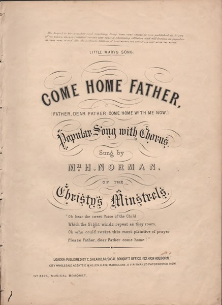 Come Home Father - song & chorus