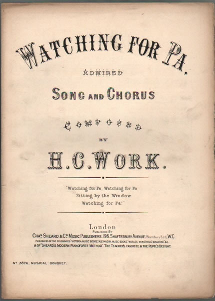 Watching for Pa - song & chorus