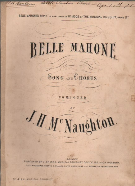 Belle Mahone - song & chorus