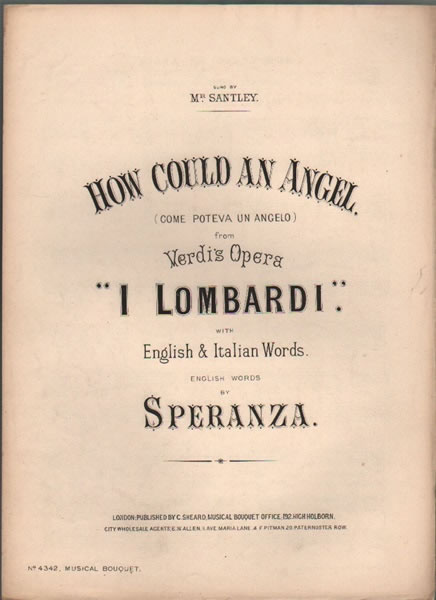 How could an Angel - Aria from 'I Lombardi'