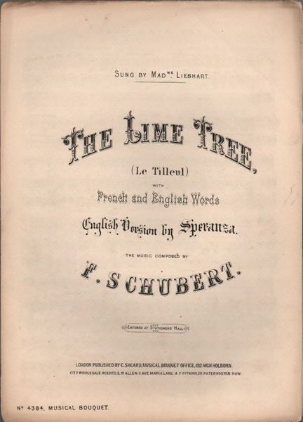 The Lime Tree -Liede