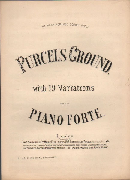 Purcell's Ground - with 19 variations