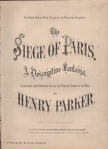 The Siege of Paris - Descriptive fantasia