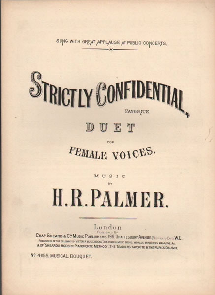 Strictly Confidential - duet for female voices