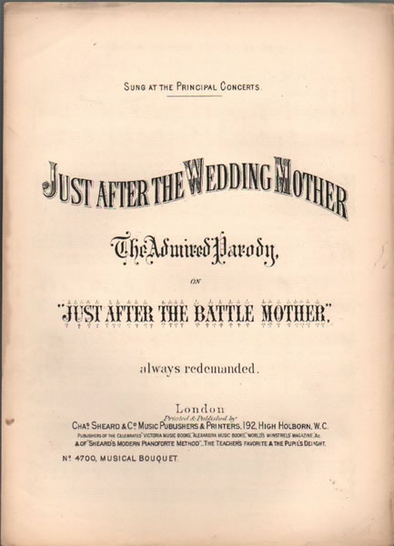 Just after the Wedding Mother - vocal parody