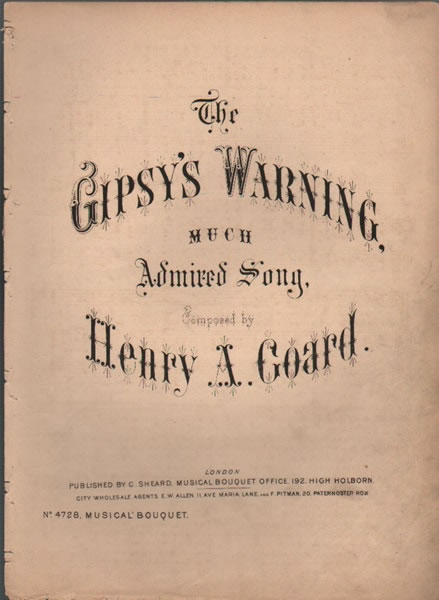 The Gipsy's Warning - song