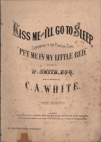 Kiss me and I'll go to Sleep - song & chorus
