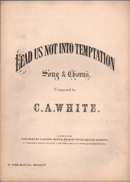 Lead us not into Temptation - song & chorus