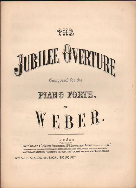 The Jubilee Overture - piano