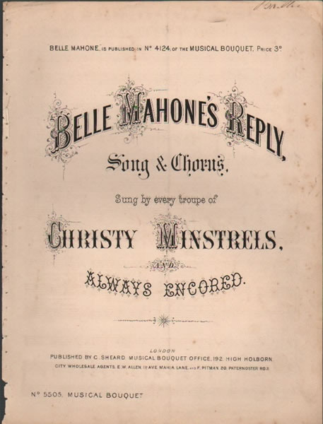 Belle Mahone's Reply - song & chorus