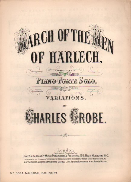 March of the Men of Harlech - piano variations