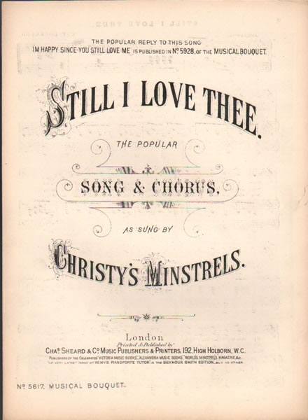 Still I Love Thee - song & chorus