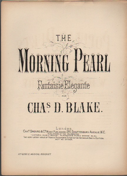 The Morning Pearl - fantaisie elegante- piano