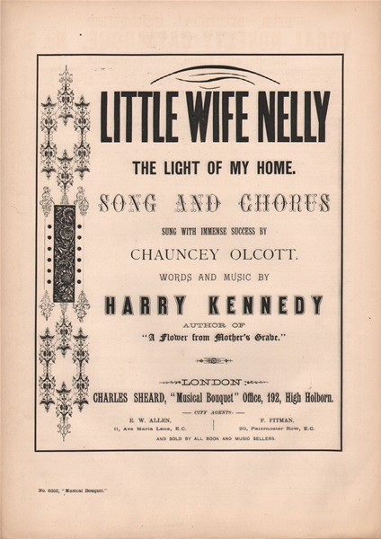 Little Wife Nelly - song & chorus
