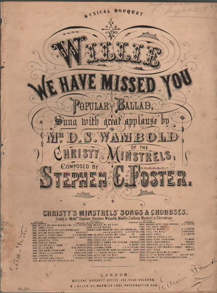 Willie We Have Missed You - Ballad