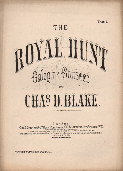 The Royal Hunt - galop de concert, piano duet