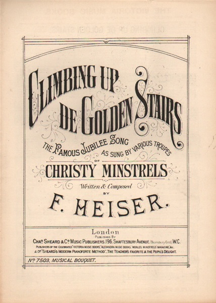 Climbing up de Golden Stairs - Jubilee song & chorus