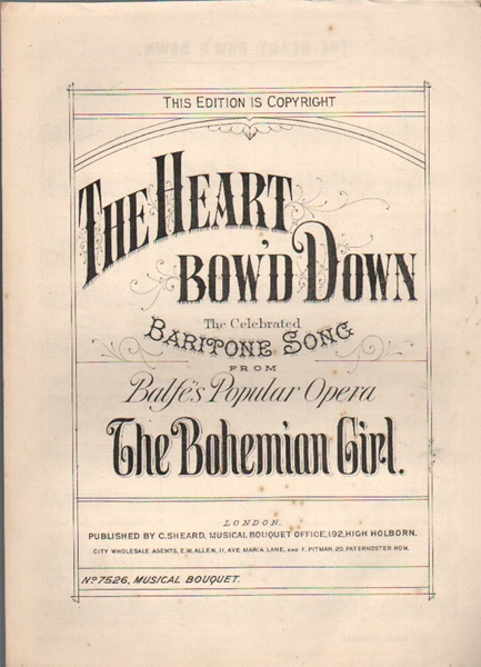 The Heart bow'd Down - baritone song