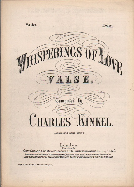 Whisperings of Love - Valse - piano duet