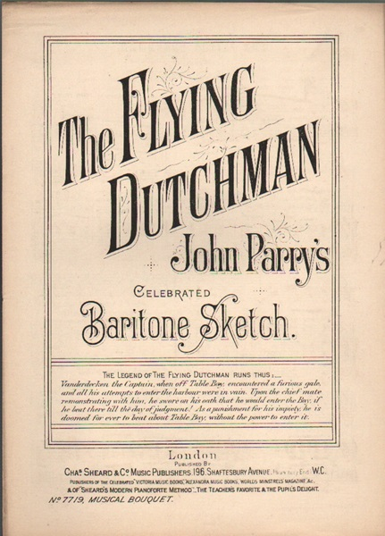 The Flying Dutchman - baritone sketch