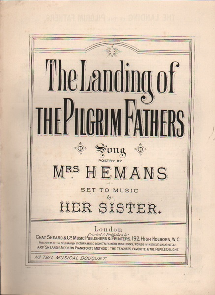 The Landing of the Pilgrim Fathers - song