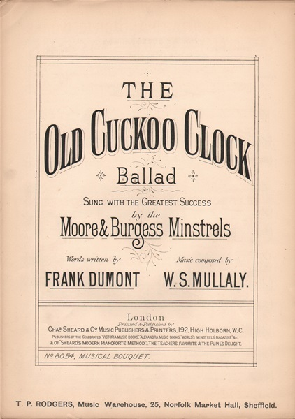 The Old Cuckoo Clock - Ballad & chorus