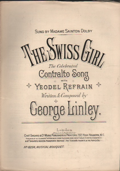 The Swiss Girl - contralto song