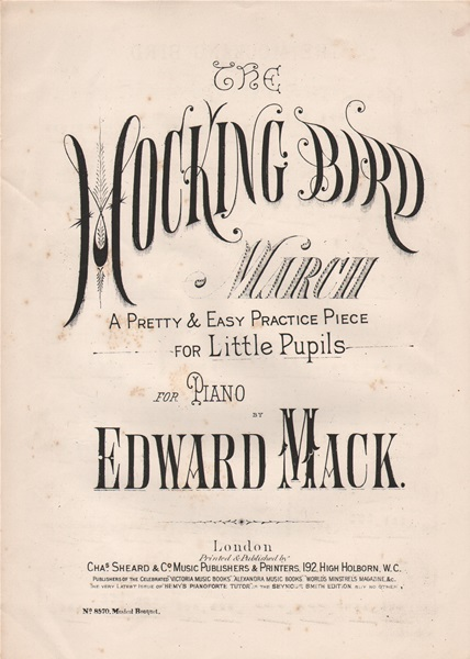 The Mocking Bird March - piano